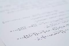 równanie Zdjęcie Royalty Free