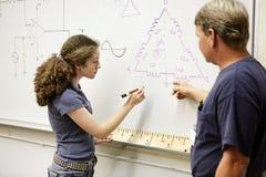 równanie działanie ucznia Zdjęcia Stock