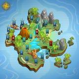 Równe mapy dla gry Przykładu interfejs użytkownika gra ilustracja wektor