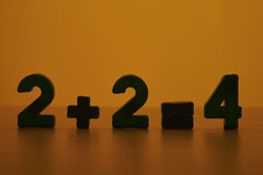 równi plus dwa cztery Obrazy Stock