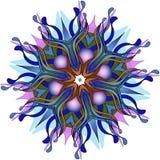 również zwrócić corel ilustracji wektora Abstrakcjonistyczny błękitny mandala na białym tle Zdjęcia Stock