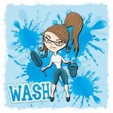 również zwrócić corel ilustracji wektora cleaning Obraz Royalty Free