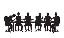 również zwrócić corel ilustracji wektora Drużynowy spotkanie w biznesowym pojęciu Grupa biznesmeni robi dyskusji komunikacji prac ilustracja wektor