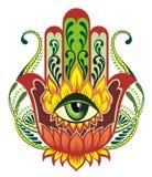 również zwrócić corel ilustracji wektora Hamsa royalty ilustracja
