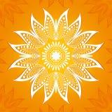 również zwrócić corel ilustracji wektora Kwiat kurendy wzór Stylizowany rysunek mandala Stylizowany lotosowy kwiat royalty ilustracja