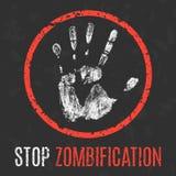 również zwrócić corel ilustracji wektora Ogólnospołeczni problemy Zatrzymuje zombification ilustracji