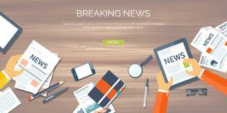 również zwrócić corel ilustracji wektora Płaski chodnikowiec Online wiadomość Gazetki informacja Rynek gospodarczy informacja tła royalty ilustracja