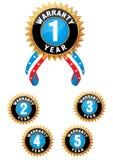 również zwrócić corel ilustracji wektora Set medal Zdjęcia Royalty Free