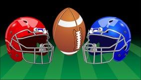 również zwrócić corel ilustracji wektora Set sporta wyposażenie futbol amerykański Zdjęcie Stock