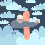 również zwrócić corel ilustracji wektora Sowa na samolocie ilustracji
