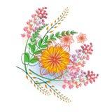 również zwrócić corel ilustracji wektora tło białe kwiaty Obrazy Stock