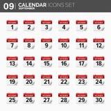również zwrócić corel ilustracji wektora ustawiać kalendarzowe ikony Daktylowy i czasie septyczny royalty ilustracja