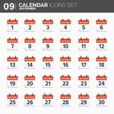 również zwrócić corel ilustracji wektora ustawiać kalendarzowe ikony Daktylowy i czasie septyczny ilustracji