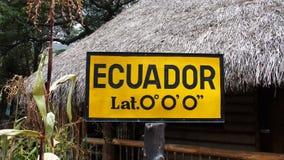 Równik w Ekwador zdjęcia stock