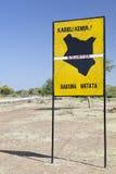 Równika skrzyżowanie w Kenja Zdjęcia Stock