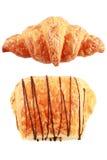 równina i czekolada odizolowywający na bielu Obraz Stock