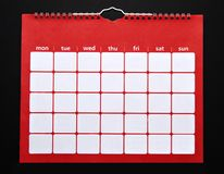 Równina kalendarz Obrazy Stock