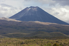 Równiny przed górą Ngauruhoe obraz stock