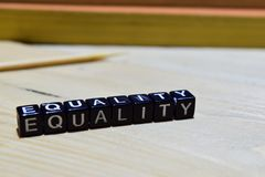 Równość na edukaci i biznesu pojęciu obrazy royalty free