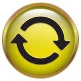 Równocześnie wiruje ikonę w żółtego złota ramie Obrazy Royalty Free
