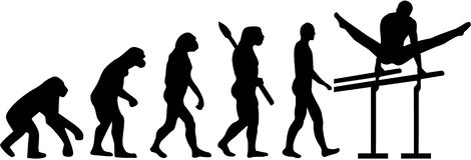 Równolegli bary ewolucja ilustracja wektor