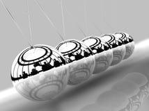 równoważenia piłek newton s ilustracji