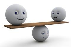 Równowaga - 3d skład Zdjęcia Stock