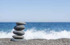 Równowaga kamienie fotografia stock