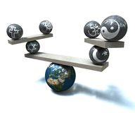 równowaga religijna royalty ilustracja