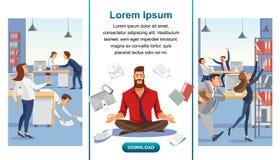 Równowaga w Multitask Biurowej pracy sieci Wektorowym sztandarze ilustracji