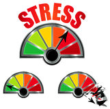 Równy stresu Metr ilustracji