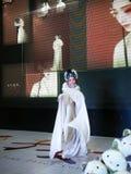 Rôle femelle dans l'opéra chinois, danse de la secousse de douille Image libre de droits