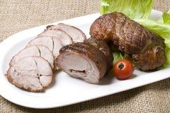 Rôti de porc photographie stock libre de droits