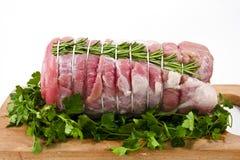 Rôti de veau avec le romarin images stock