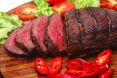 rôti de viande servi Photos stock