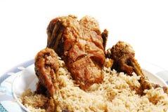 Rôti et riz de poulet Photo libre de droits