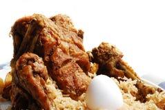 Rôti et riz de poulet Photos libres de droits