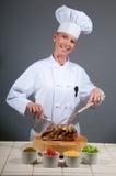 Rôti femelle de portion de chef Photos libres de droits