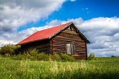 Rödön. Old barn in the fields of  Rödön in Sweden Royalty Free Stock Photo