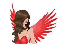 Röd ängel Royaltyfri Fotografi