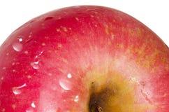 Röd äppledetalj Arkivbilder