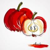 Röd äpplefrukt Royaltyfria Bilder