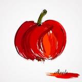 Röd äpplefrukt Arkivfoton