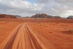 Röd öken för Jordanien Royaltyfri Fotografi