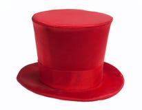 röd överkant för hatt Arkivbilder