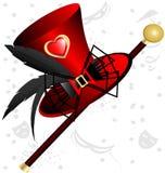 röd överkant för hatt Royaltyfri Foto