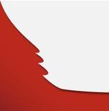 Röd abstrakt applique för julträd Arkivbilder