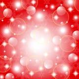 Röd abstrakt bakgrund för jul Royaltyfri Fotografi