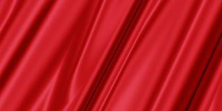Röd abstrakt bakgrund med mjukt silke Royaltyfri Foto