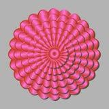 Röd abstrakt blomma Fotografering för Bildbyråer
